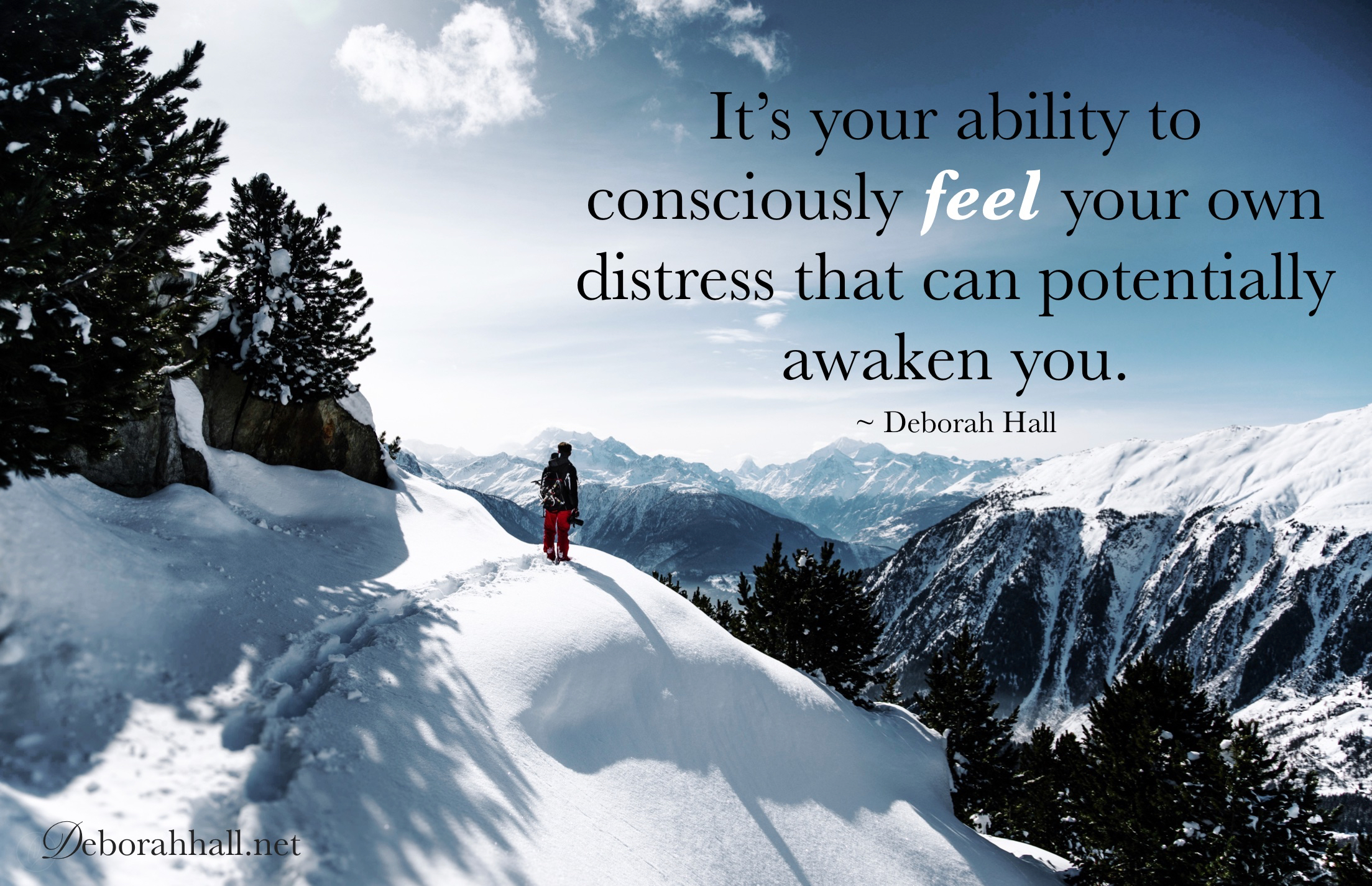 consciously feel