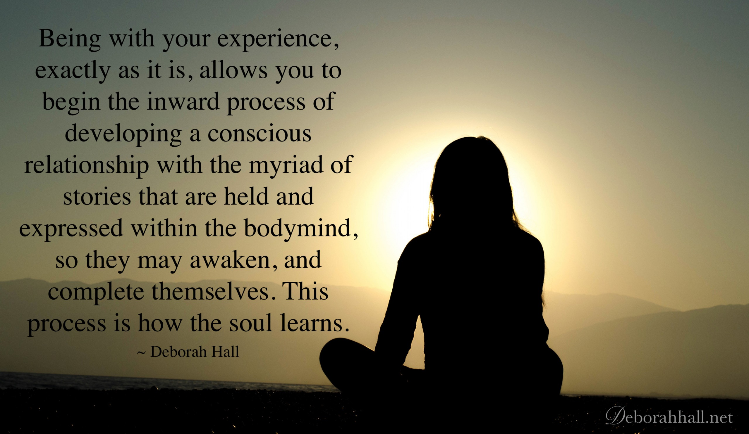 being with your experience